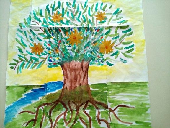 арт терапия в группе занятие деревья